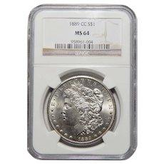 1889-CC Ngc MS64 Morgan Dollar