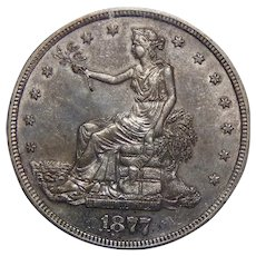 1877-S Anacs MS61 Trade Dollar