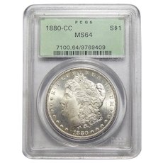 1880-CC Pcgs MS64 Morgan Dollar