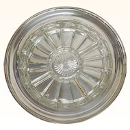 "Tiffany Sterling Silver Relish Tray with Original Glass Insert 13.75"" diameter R017"