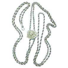 Fantastic Art Nouveau Figural Maiden Slide Chain in Sterling Silver SS01