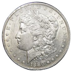 1880-O AU50 Morgan Dollar