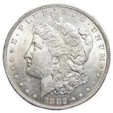 1882-O AU55 Morgan Dollar
