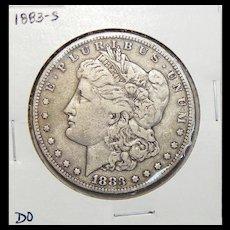 1883-S VF25 Morgan Dollar