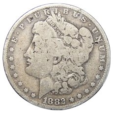 1882-O/S Weak Morgan Dollar (Slight Damage)