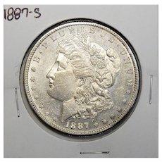 1887-S AU55 Morgan Dollar