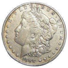 1888-O Morgan Dollar w/ Hot Lips (Scratched Obverse)