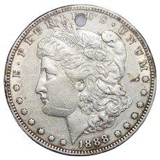 1888-S Morgan Dollar (Holed)