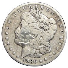1886-S Morgan Dollar (Damaged)