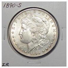1890-S AU58 Morgan Dollar