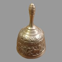 Sale Cast Bronze or Brass Hand Raised Bell with Motifs