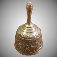 Cast Bronze or Brass Bell with Motifs