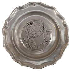 Pewter Bicentennial Plate 1776-1976
