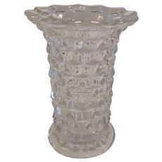 Fostoria American Stacked Cube Flared Vase