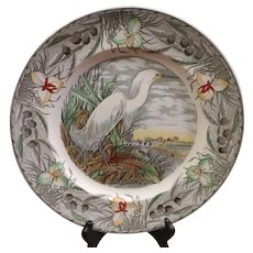 Adams The Birds of America Snowy Egret Plate
