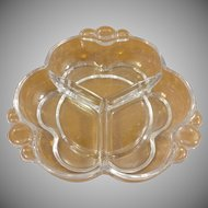 Duncan Miller Clear Glass Divided Dish