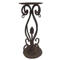 Wrought Cast Iron Pillar Candleholder