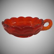 Fostoria Ruby Red Nappy Coin Dot Dish