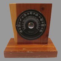 Wood Table or Desk Thermometer