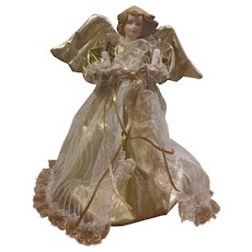 Angel Lighted Christmas Tree Topper