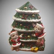 World Bazaars Christmas Tree Cookie Jar