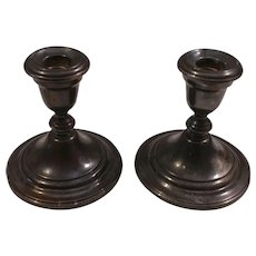 Pair Gorham Weighted Silverplate Candleholders Candlesticks YC 3000