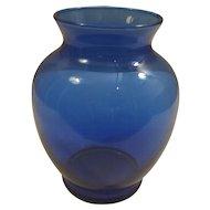Indiana Glass Ginger Cobalt Blue Vase