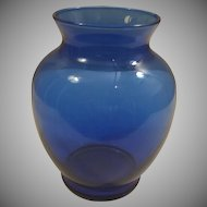 Indiana Glass Ginger Cobalt Blue Vase