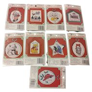 9 New Berlin Cross Stitch Christmas Ornaments