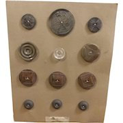 Button Card with 12 Vintage Buttons