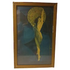 Framed Vintage Rolf Armstrong Print The Enchantress