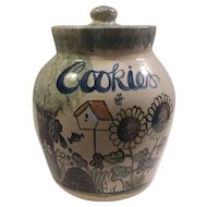 Stoneware Pottery Cookie Jar