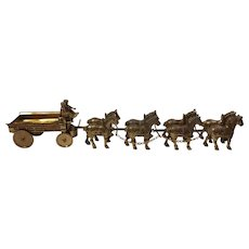 Brass Horse Team and Wagon
