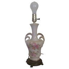 Clearance Sale Porcelain Urn Lamp with Floral Design