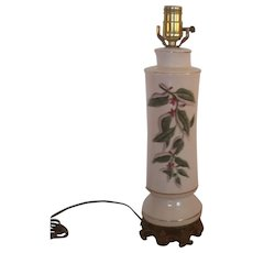 Clearance Sale Porcelain Floral Table Lamp With Gold Trim