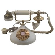 1970's Brass Plated Decorative Telephone