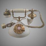 1970's Brass Plated Decorative Telephone