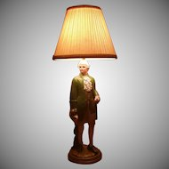 Colonial Figurine 3-Way Lamp