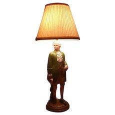 Clearance Sale Colonial Figurine 3-Way Lamp