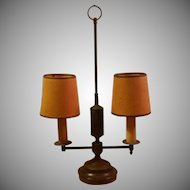 Vintage Two Light Candlestick Desk Lamp