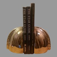 Clearance Sale Ceramic Bookends with a Silver Chrome Mirror Finish