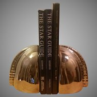 Ceramic Bookends with a Silver Chrome Mirror Finish