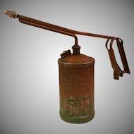 Vintage Golden Rod 1 Quart Pump Oil Can