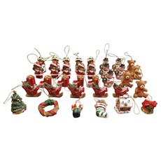 35 Miniature Resin Christmas Ornaments