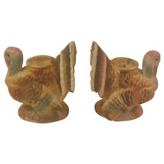 Vintage Napco Thanksgiving Turkey Candleholders