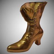 Leonard Solid Brass Victorian Style Boot Vase