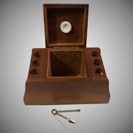 Walnut Fairfax Humidor with Six Pipe Rack