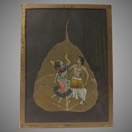 Hand Painted Pipal Leaf India