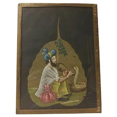 Hand Painted Pipal Leaf from India