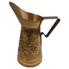 Embossed Brass Water Pitcher
